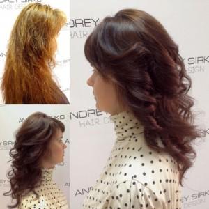 Нейтрализация оранжевого пигмента волос
