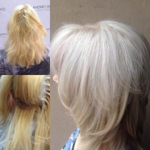 Окрашивание корней и тонирование преображают цвет, а уход #redkenchemistry дарит осветлённым волосам вторую жизнь