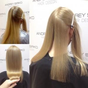тонированием волос