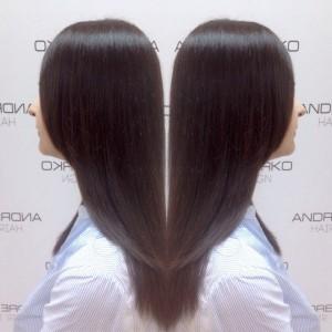 Тонирование волос в холодной коричневой гамме