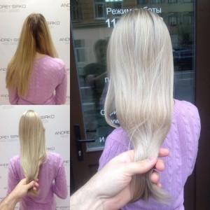 Окрашивание в блонд Спб