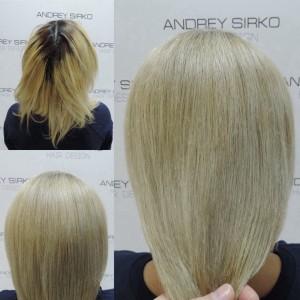 окрашивание блонд,осветление волос