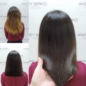 окрашивание волос коричневые тона