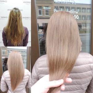 растяжка цвета,осветление волос,окрашивание волос