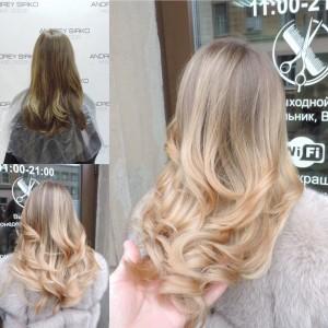 окрашивание волос шатуш омбре брондирование redken