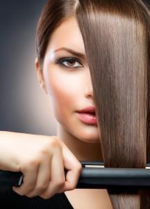 укладка волос на утюжок